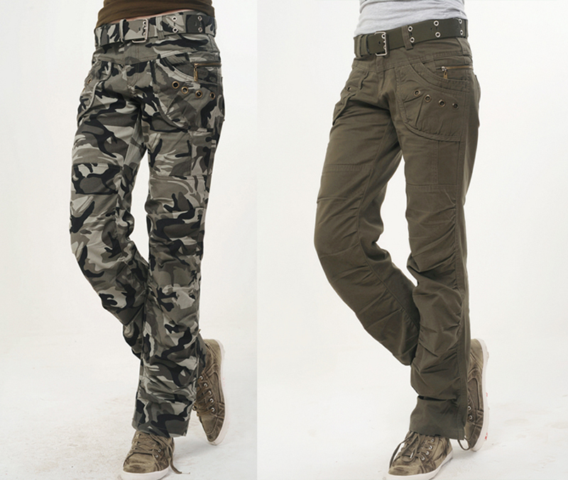Hot New Fashion Autumn Summer Army Green Denim camouflage cargo pants  women, loose jeans baggy camo pants for women-in Pants   Capris from  Women s Clothing ... 3c95cebfd721