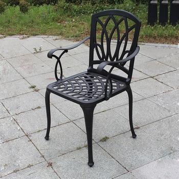 набор из 2 шт новые литые алюминиевые стулья патио сбивают вниз садовая мебель прочная без подушек
