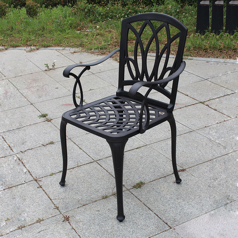 set of 2 pcs NEW Cast aluminum chairs patio knock down garden furniture Outdoor furniture durable without cushionsset of 2 pcs NEW Cast aluminum chairs patio knock down garden furniture Outdoor furniture durable without cushions