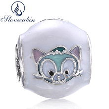 8b470ebd5 Slovecabin Real 925 Sterling Silver Fox Charms With White Enamel For Women Fit  Pandora Bracelet Fine