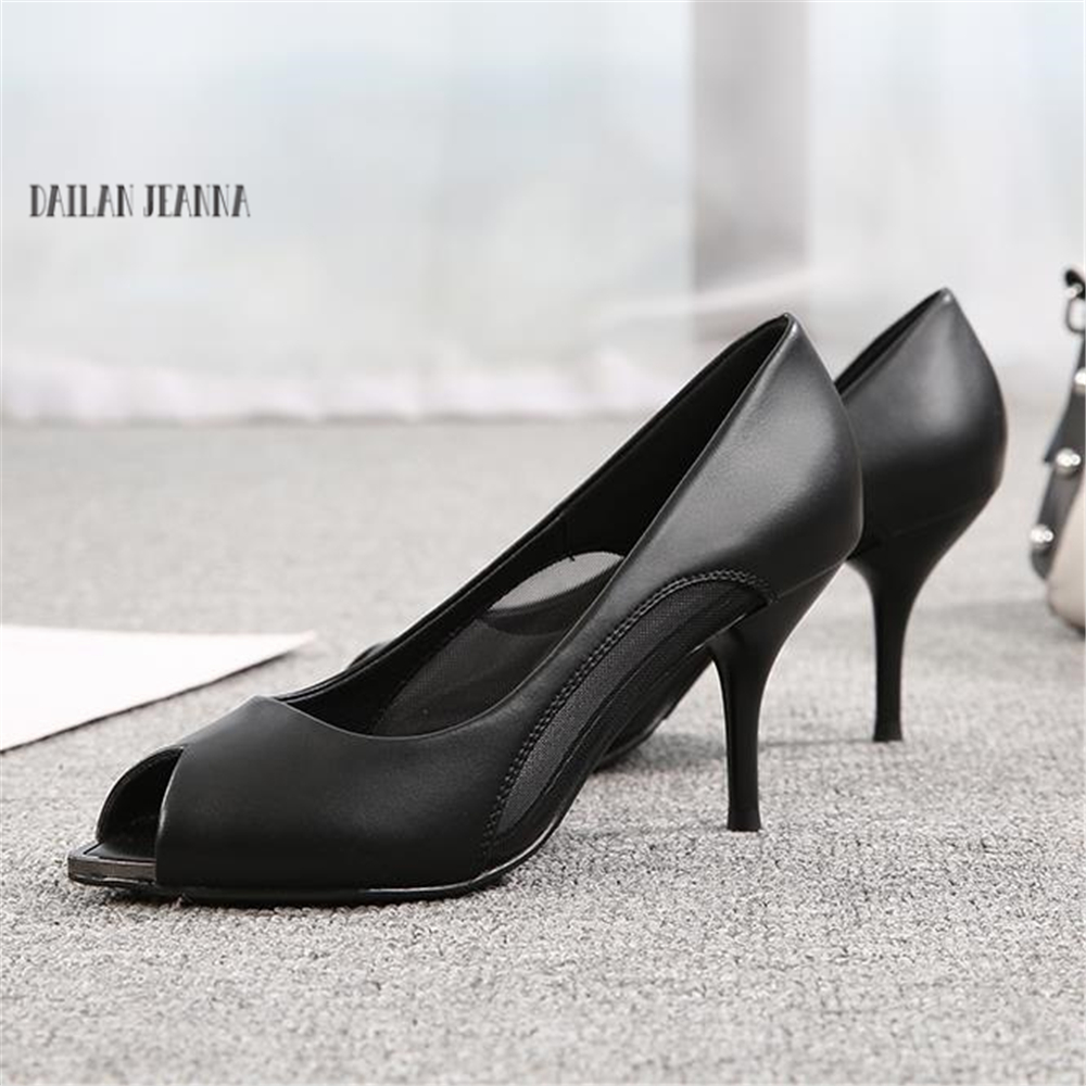 Chaussures Gauze0 Ol European Souple American À En Talons Cuir Femelle Hauts De New Noir Travail 2018 Poissons Pompes Chaussures Professionnels Bouche q8wEOBWz