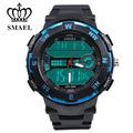 SMAEL Sport Watch Men Waterproof LED Digital Watches PU Strap LED Wristwatch Best Gifts Relogios Masculino 50M Waterproof 1361