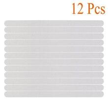 12Pcs Transparante Non Slip Anti Slip Strip Bad Loopvlakken Stickers Veiligheid Voor Badkamer Trappen Zwembaden Keukens Supply