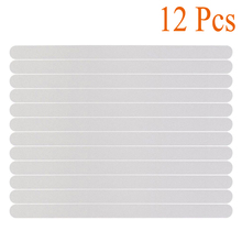 12pcs Transparent Non Slip Anti-Skid Strip Bath Tub Treads Stickers Safety for Bathroom  Stairs Pools Kitchens Supply