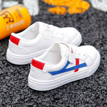 Новая волна корейской версии Джокер для мальчиков и девочек воздухопроницаемая обувь Весна и осень белая детская обувь.