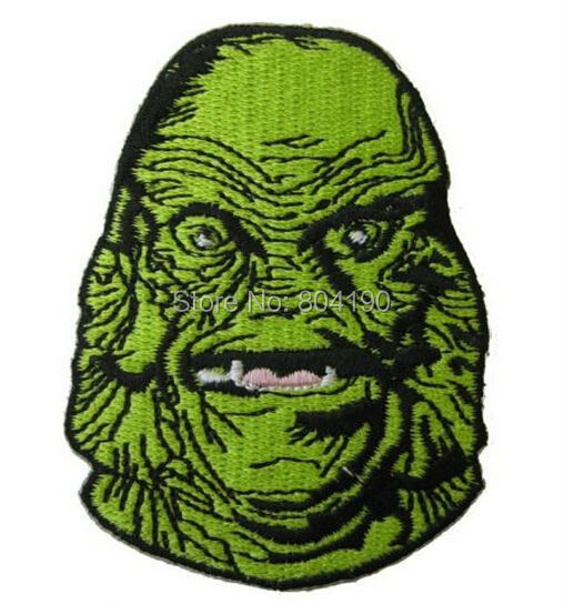 """GREEN Creature From the Black Lagoon Iron on Patch 3.5/"""" x 3/"""""""