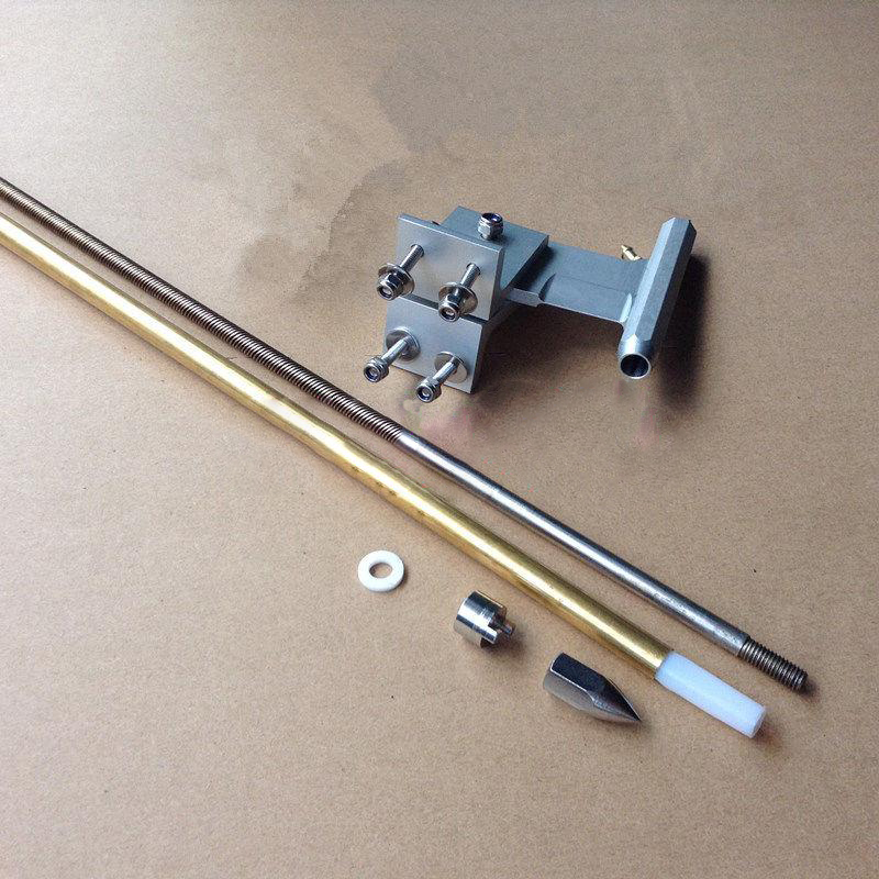 RC Boat 6.35mm Drive Shaft Kit Drive Dog 690mm Soft Shaft+Propeller Crutch+Copper Tube+Plastic Tube+80mm T-type Shaft Bracket 3mm rc boat shaft set 100 150 200 250mm motor drive shaft with coupler propeller screw drive dog spare parts