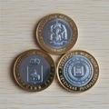 2010 г., Российская республика чечь, десять рублей, монета 3 шт./лот, Высококачественная репродукция, коллекция деловых подарков
