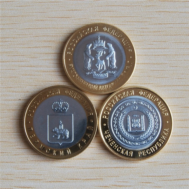 2010 rússia república da chechénia dez rublos moeda pçs/lote alta qualidade reprodução presente de negócios coleção