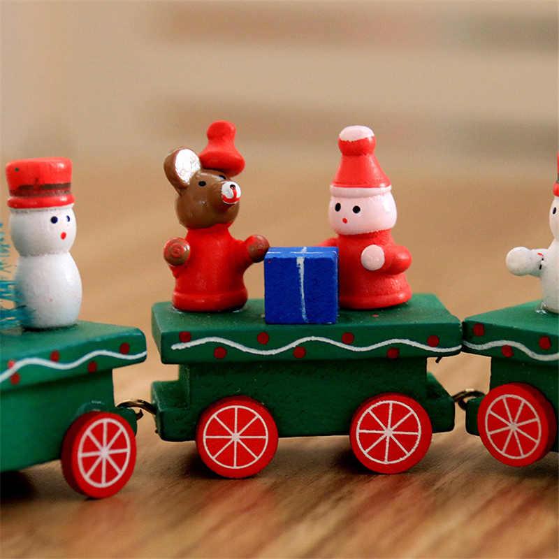 Рождественский поезд форма дерево Natale украшения Санта-Клаус Медведь рождественские детские игрушки Деревянный Подарок домашнее украшение Navidad 2019 новый год