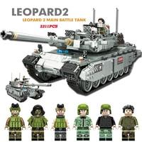 Military Tank Building Blocks set ww2 Figure Tank Battle Mini Army Soldier Gun Model Toys for children LegoINGlys Military Brick