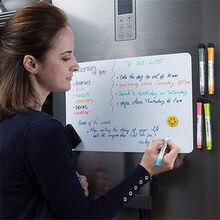 A5 Magnetische Whiteboard Kühlschrank Magneten Trocken Wischen Weiß Board Marker Schreiben Rekord Nachricht Bord Erinnern Memo Pad Kid Geschenk Küche