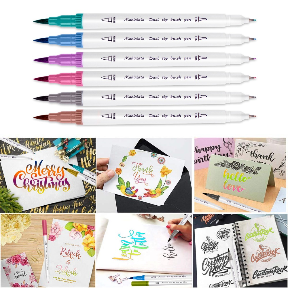 Image 4 - Touchfive 60/72/100/120 Colors Dual Brush Tip Markers Watercolor Pen Art Supplies Washable Pen For drawing Painting Skech Pen-in Art Sets from Office & School Supplies