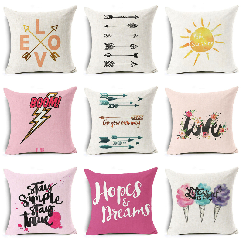 Nova The Big Bang Theory Capa de Almofada Seta Engraçado E Palavras de Amor Para Casa Decorativa Almofadas Capa para Sofá Let Eua feliz Caso Travesseiro