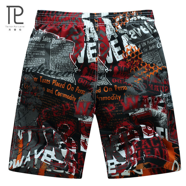 HOT Quick Dry Men Shorts Brand Casual Beach Short Homme Bermuda Summer Men's Board Shorts Printed Mens Short #B0