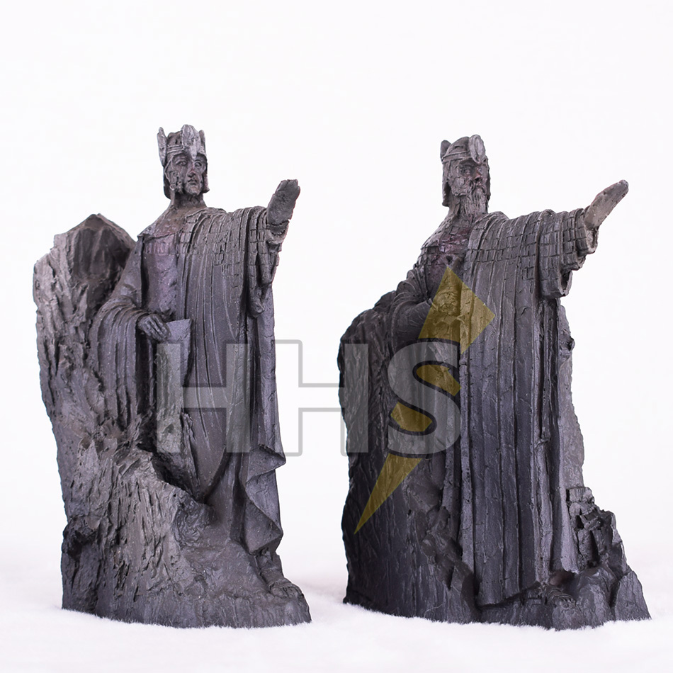 11 14CM The Lord of The Rings Bookends Action Figure The Gates of Gondor Argonath Diecast