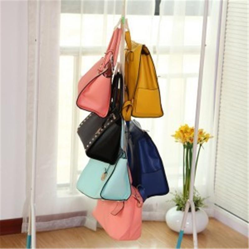 4 hooks hanging rack storage organizer handbag purse bags for Hooks to hang purses