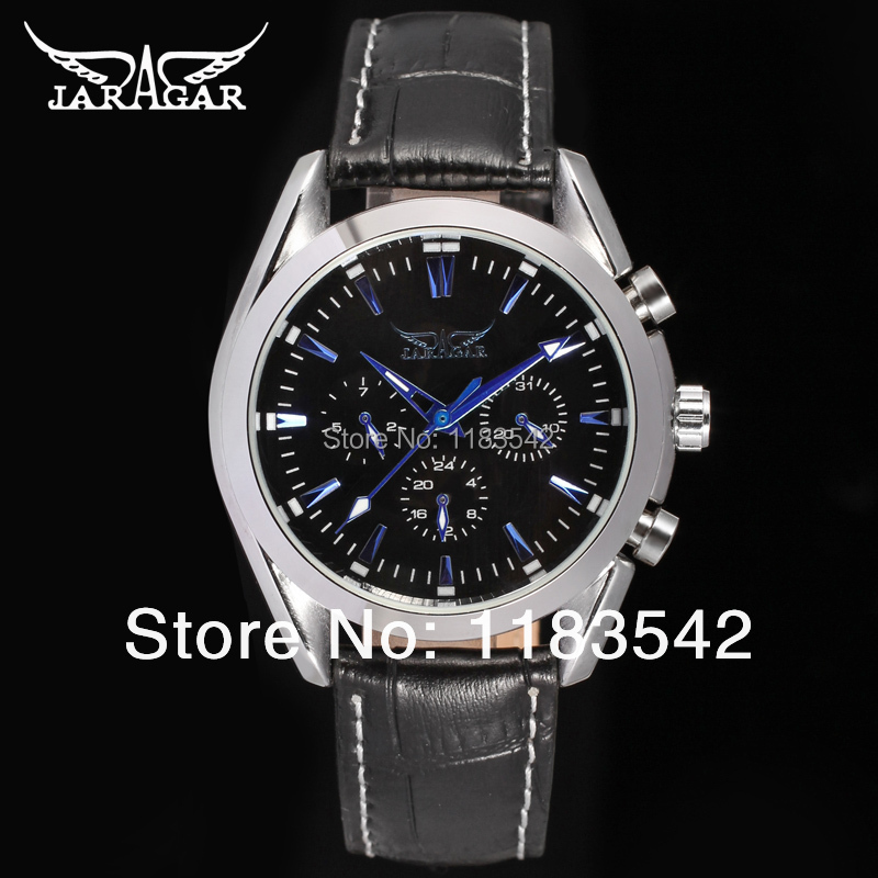 Подробнее о Jargar  new men Automatic self-wind fashion dress wristwatch silver color with black leather strap hot selling free shipping jargar jag6070m3s2 new men automatic fashion watch silver wristwatch for men with black leather strap best gift free ship