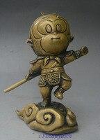 8 China Copper Bronze Cartoon Character Anime Sunwukong Monkey Animal Statue