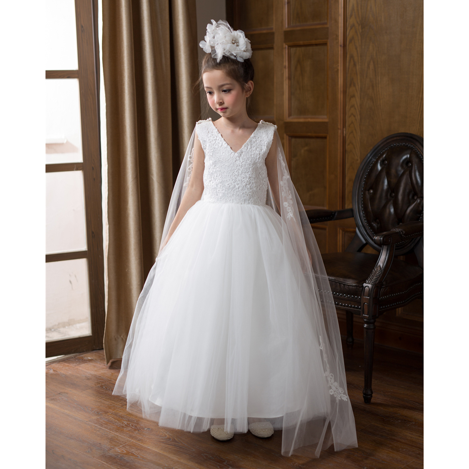 bf392493f316 ABWE Best Sale New Flower Girl Dress Summer Princess Costume Children Girl  Wedding Dress Kids Lace Party Dancing Dress Birthda-in Dresses from Mother    Kids ...