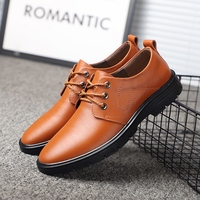 GUDERIAN Brand Formal Office Shoes Men Genuine Leather Italian Men Shoes Casual Lace Up Mens Wedding Shoes Zapatos Vestir Hombre
