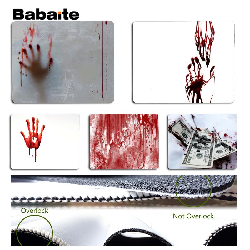 Babaite Cool New Blood Computer Gaming Mousemats Size for 18x22cm 25x29cm Rubber Mousemats