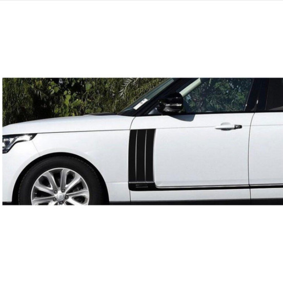 ABS Chrome Side Air Vents Kit Mesh Vent Grille Grill Fender Stickers For Land Rover Range Rover Vogue 2014 2017 Car Accessories in Car Stickers from Automobiles Motorcycles