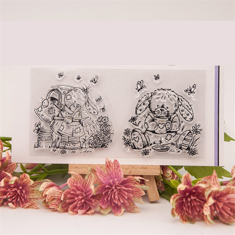 New arrival  lovely dog and bear Silicone Transparent Clear Stamp Seal for DIY scrapbooking photo album stamp craft RM-127 about lovely baby design transparent clear silicone stamp seal for diy scrapbooking photo album clear stamp paper craft cl 052