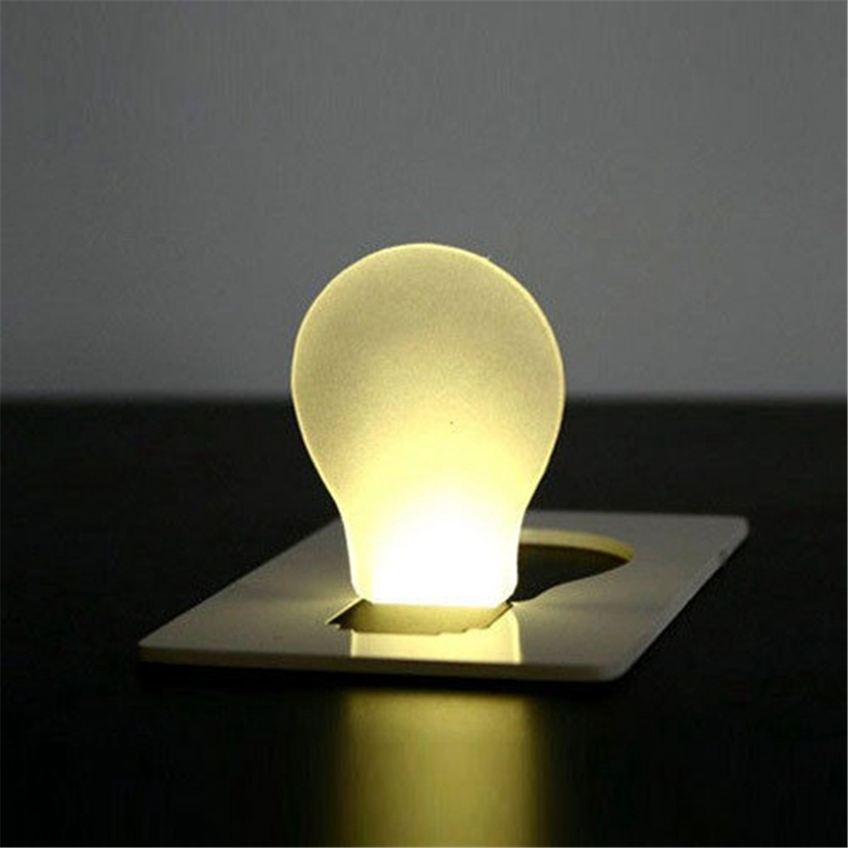 Smuxi Mini Wallet For Pocket Credit Card Size Portable LED Night Light Lamp Bulbs Cute Paper Card Flashlight(China)