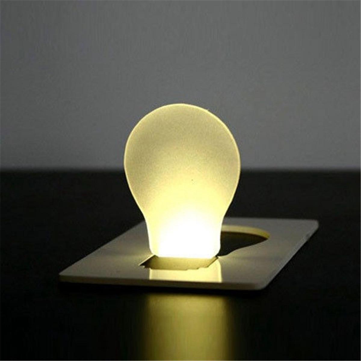 Smuxi Mini Wallet For Pocket Credit Card Size Portable LED Night Light Lamp Bulbs Cute Paper Card Flashlight