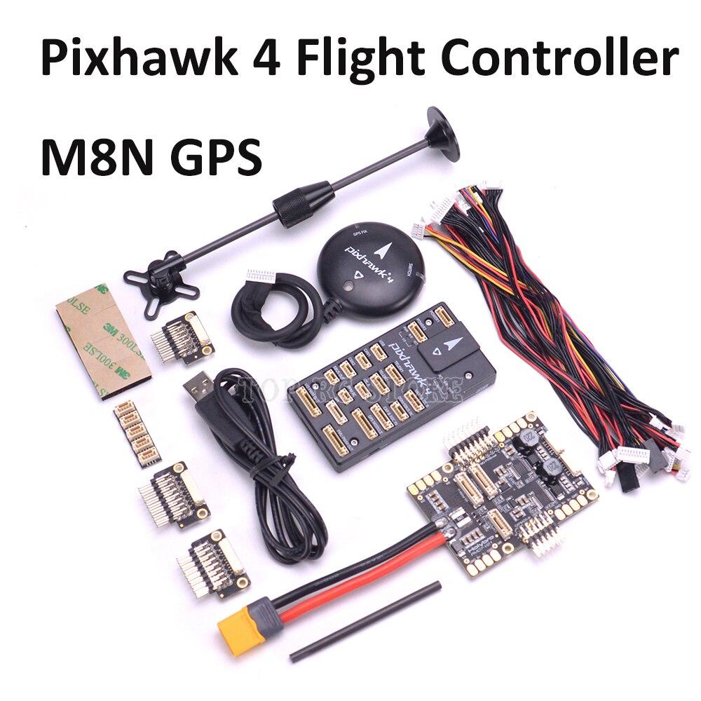 Pixhawk 4 PX4 Flight Control GPS MODULE M8N PM07 Power Management Board autopilot Combo kit with