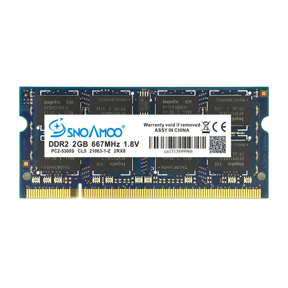 SNOAMOO Laptop Memory DDR2 With 667MHz PC2-5300S CL5 800MHz 15