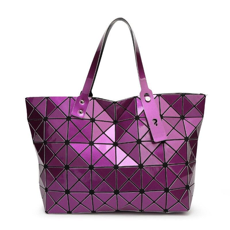 a1ea0c7465 2015 New issey Miyake BAO BAO women pearl bag Diamond Lattice Tote geometry  Quilted handbag Geometric mosaic shoulder bag-in Shoulder Bags from Luggage  ...