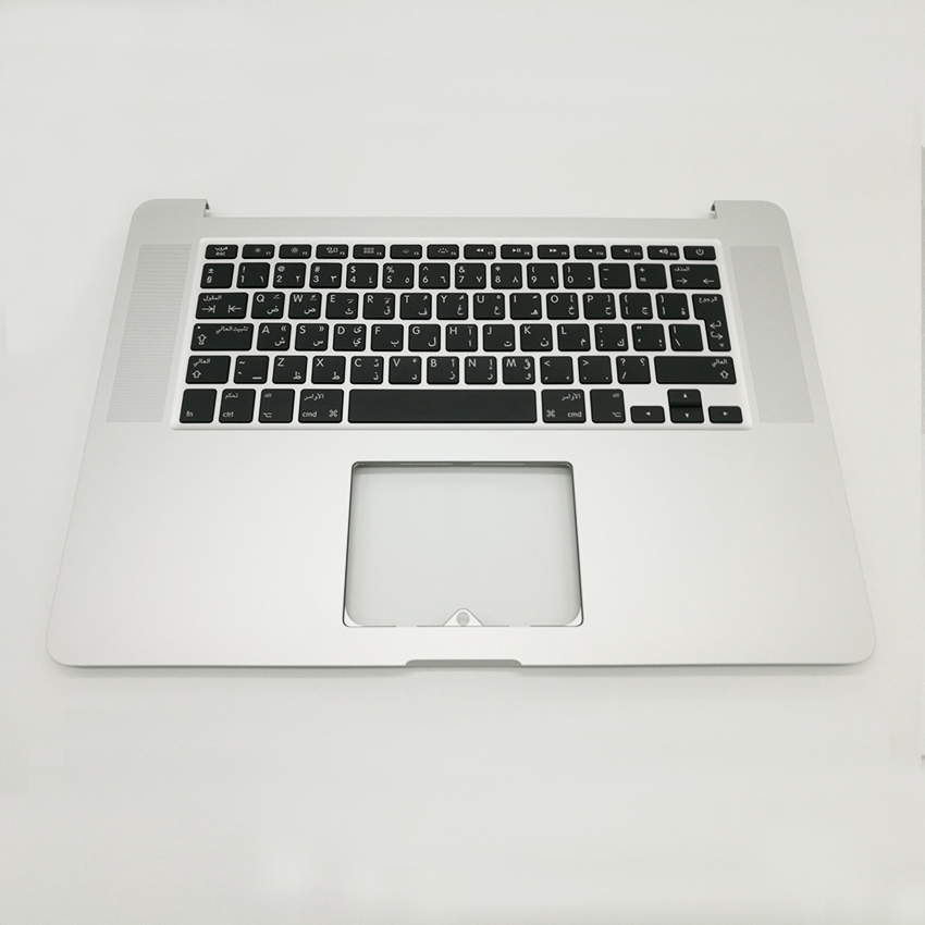 Nova Árabe Árabe Top Case Descanso de Mãos Topcase Com Teclado & Backlight Para MacBook Pro Retina 15.4
