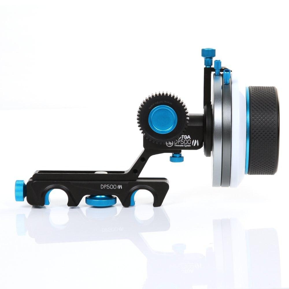 купить FOTGA DP500III Dampen A/B Hard Stop Follow Focus for Sony A7 A7II BMCC F55 5DIII FS7 C100 C300 F3 HD DSLR HD DV Video Camera по цене 11558.9 рублей