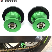 10mm Swingarm Spools Sliders Motorcycle For Kawasaki ER-6N ER6N ER 6N 2006-2016 2007 2008 2009 2010 2011 2012 2013 2014 2015 цена в Москве и Питере