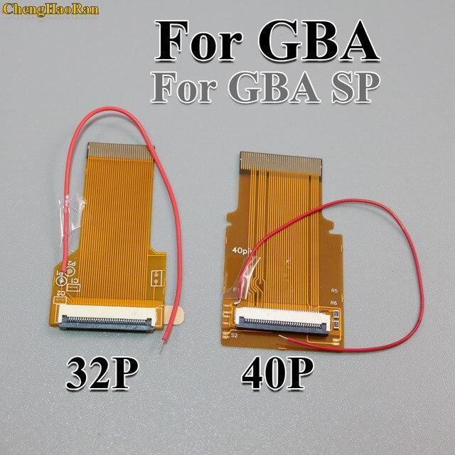 ChengHaoRan 2pcs 32P 40 P Per GameBoy Advance GBA Cavo a Nastro 32 Spille 40 Spille AGS 101 Retroilluminato schermo adattatore Mod W/Via Cavo