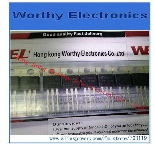 Free shipping 10pcs lot FDP3632 FDP 3632 MOSFET N CH 100V 80A TO 220AB