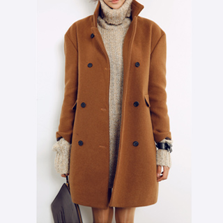 Images of Womens Brown Coat - Reikian