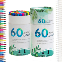 Dual Tip Marker Pens 60 Colors Magicfly Watercolor Dual Brush Pen With Fineliner Tip 0 4