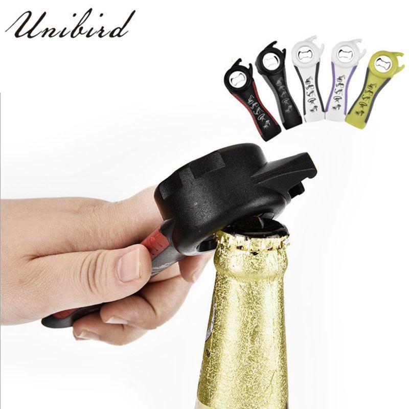 Unibird 5 in 1 Creative Multifunction Stainless Steel Can Opener Beer Bottle Super Good Jar Opener Kitchen Tool Barware
