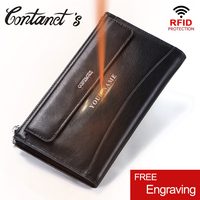 Fashion Men Handbag Rfid Solid Male Day Clutches Genuine Leather Handbags And Purses 2018 New Men's Clutch Bag With Phone Holder