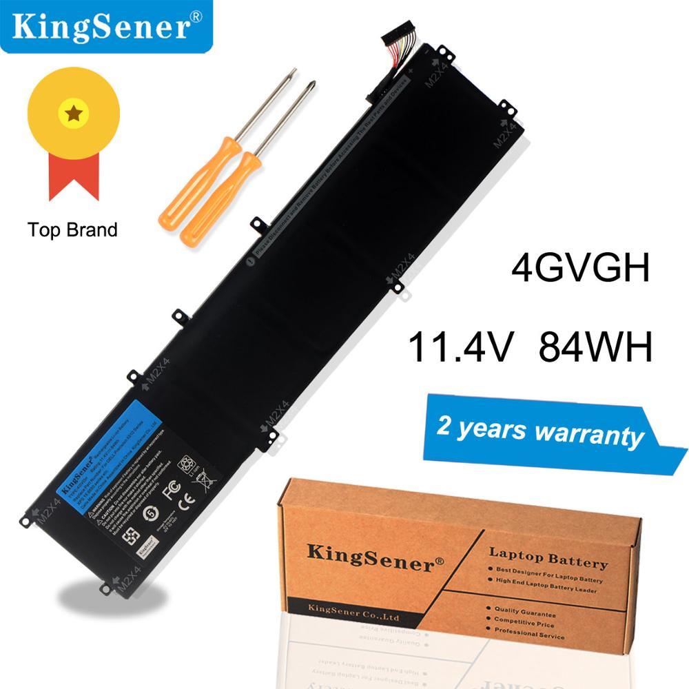 KingSener Nouveau 4 GVGH batterie d'ordinateur portable pour DELL Precision 5510 XPS 15 9550 série 1P6KD T453X 11.4 V 84WH