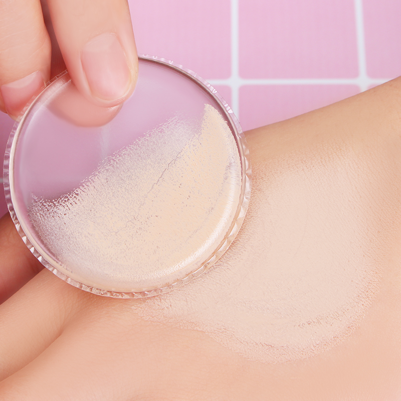 1 Pc Transparent Powder Puff Jelly Silicone Gel Sponge for Face Foundation BB Cream Cosmetic Makeup Tool