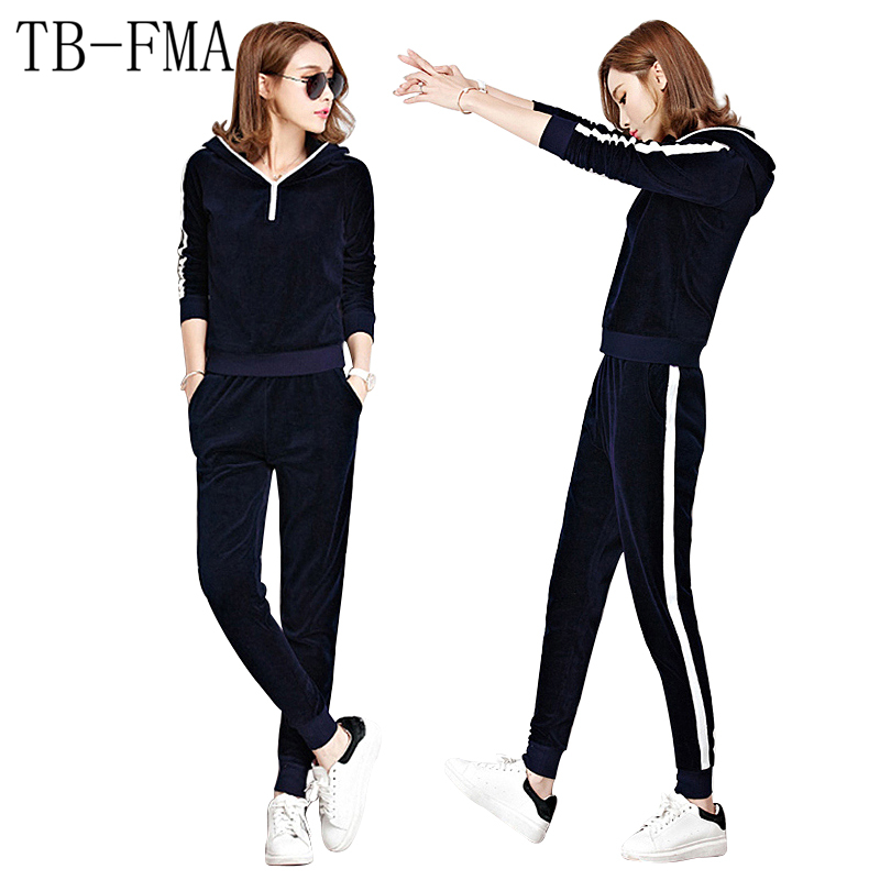Women's Yoga Sets Velvet 2 Piece Coat & Pants Women Warm Sports Suits New Sport Sportswear for Yoga & Baseball Free Shipping new winter yoga suit five piece female ms breathable coat of cultivate one s morality pants sports suits running fitness