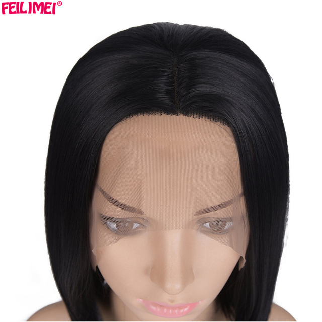 Feilimei Lace Front Wigs 12inch 180g Colored Hair Extension Heat