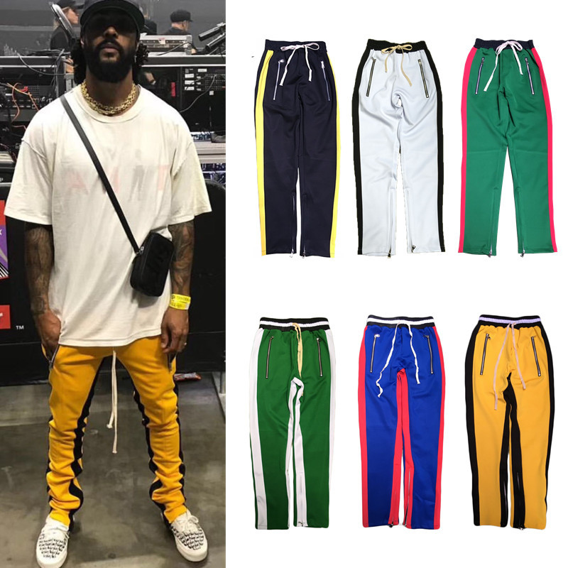 H.A. Sueno 2017 new men track pants hip hop mens pants with zippers popular panelled sof ...