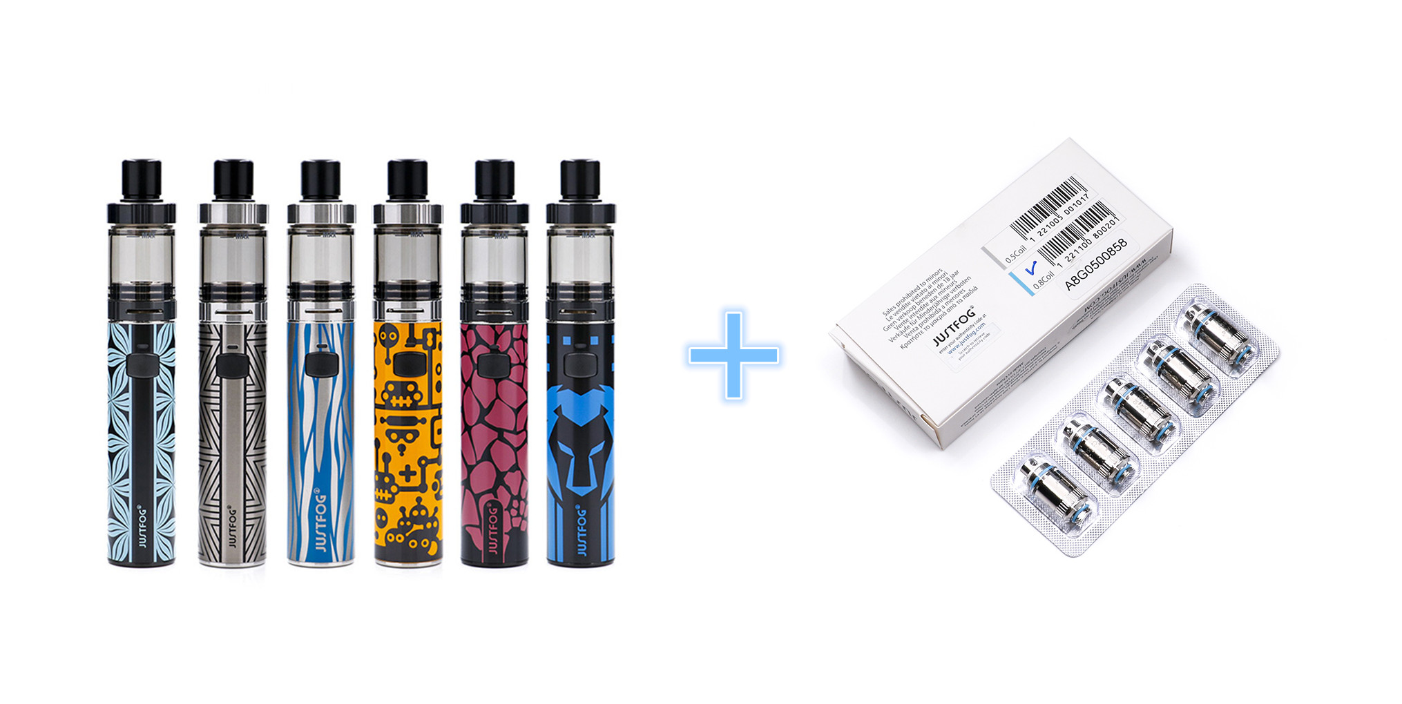 original JUSTFOG FOG1 Kit Limited edition 1500mAh and 5pcs justfog fog1 coils battery all in one vape pen kit 2ML