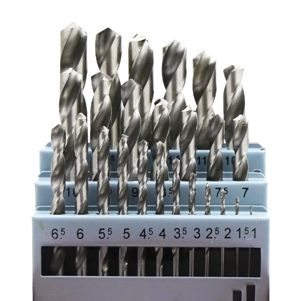 20pcs 0.3-1.6mm Titanium Coated Twist Drill Bits HSS Woodworking Tool Set Professional Drilling Tools High Quality