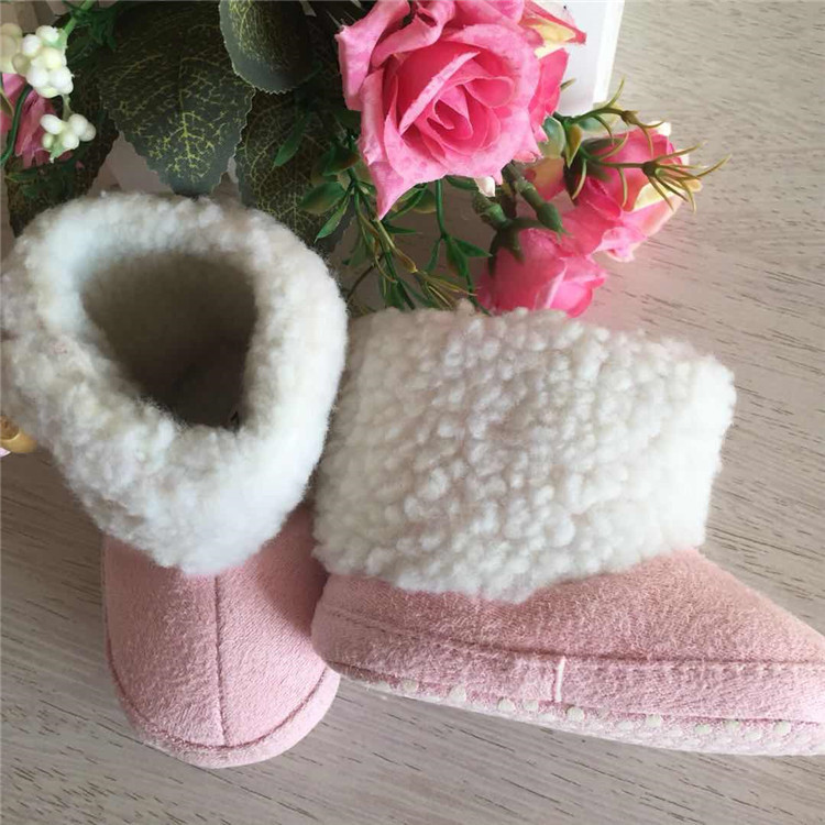 Europe and the United States selling baby pink plus cotton thickening toddler shoes fashion shoes